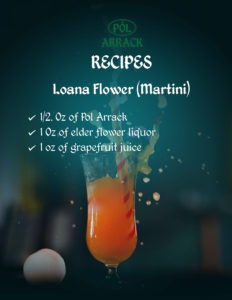 Ioana Flower Martini with Pol Arrack